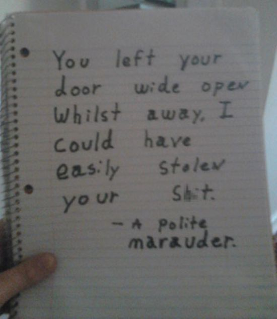 A Polite Marauder-12 Amazing Notes Ever Left By Neighbors
