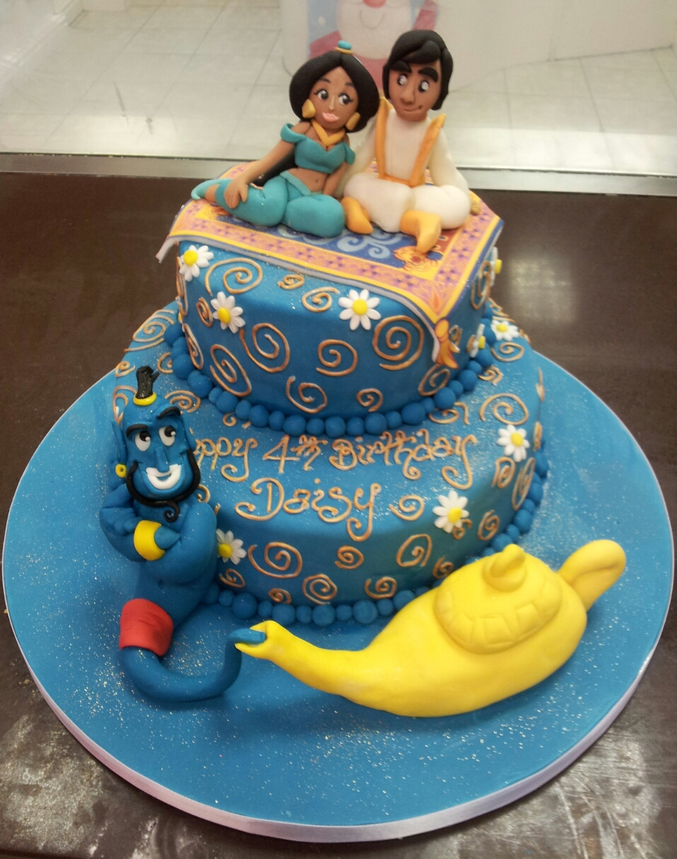 Amazing 3d cartoon model cakes for Aladdin decoration ideas