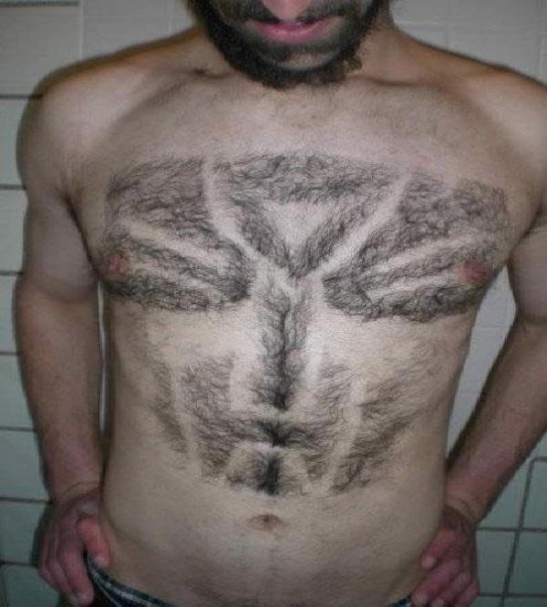 Funky-Amazing Body Hair Art