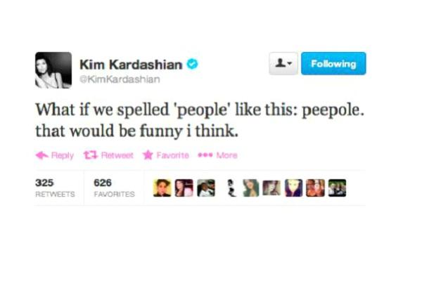 Kim Kardashian-Funny Celeb Tweets