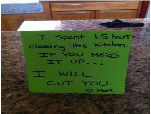 Keep it Clean or Get Cut-Absolutely Hilarious Parental Notes
