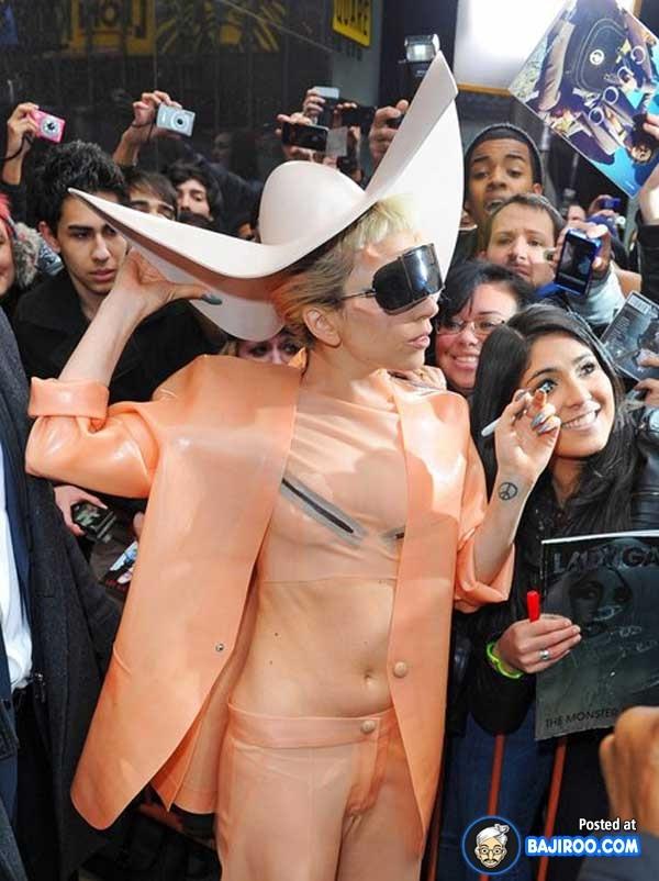 A cowboy..Gaga style-Worst Lady Gaga Outfits