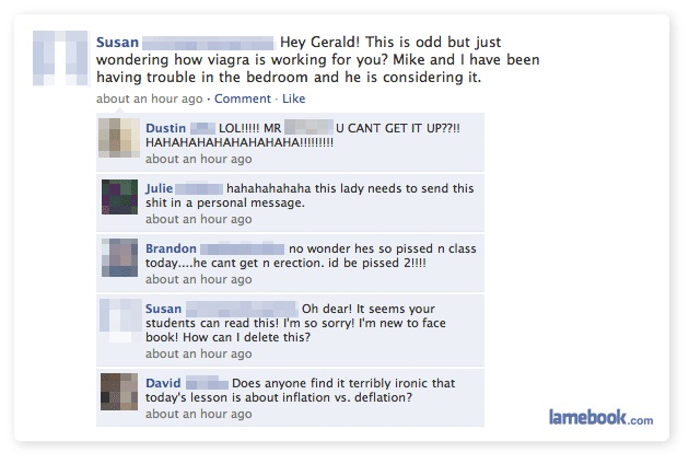 Viagra-12 Most Embarrassing Yet Hilarious Facebook Posts You'll Ever Read