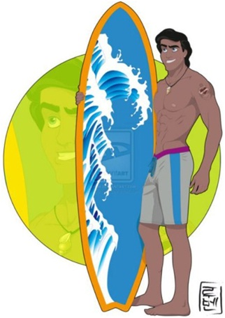 Eric - The Surfer-If Disney Characters Were College Students