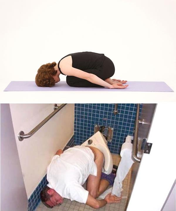 Resting 2-Yoga Vs. Drunk Poses