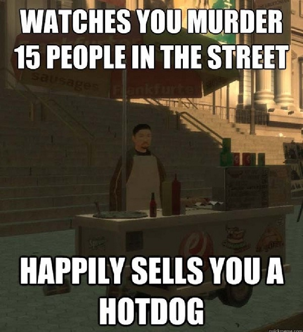 Well Killing Is Hungry Work-Worst Video Game Logic