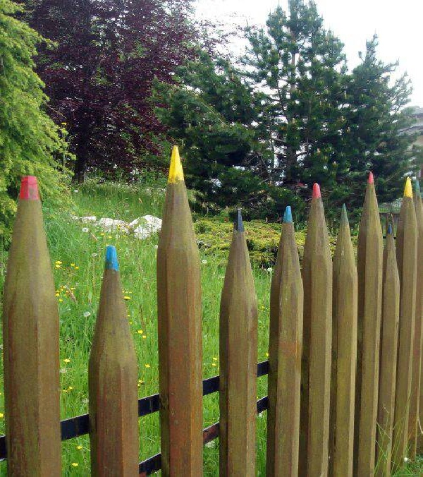 The pencil fence-Most Creative Fences