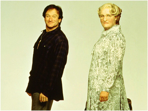 Robin Williams as Mrs. Doubtfire-Celebrities From One Movie Role To Another