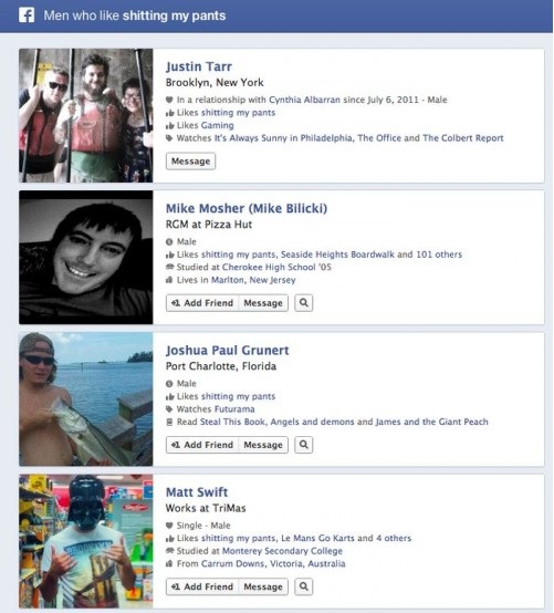 Just gross-Funny Facebook Graph Searches