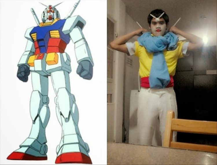 Those sticks are useful-12 Cheap Yet Funny Cosplays Ever