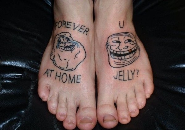 We love faces-Wackiest Internet Inspired Tattoos