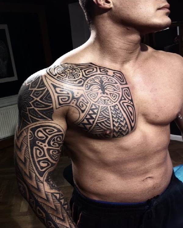 Polynesian tattoo-15 Cool Tattoos For Men That Make You Say WOW!