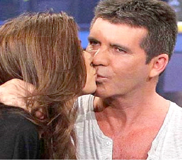Simon Cowell/Meshgan Hussainy-Most Awkward Celebrity Kisses