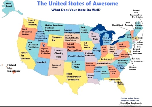United States Of Awesome-12 Funny Maps You Won't See In School