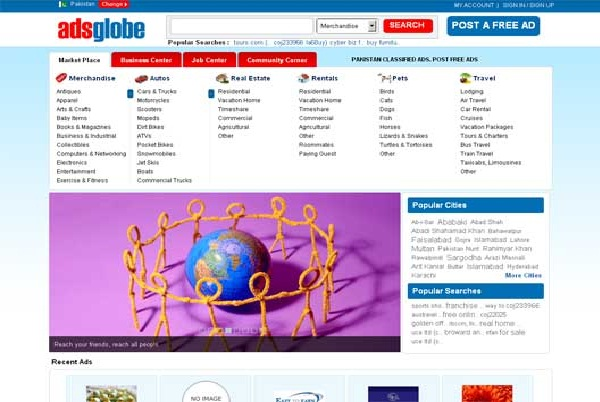 Adsglobe-Best Free Classifieds Websites