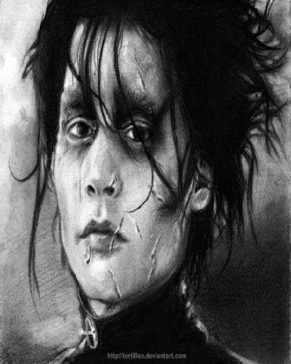Edward Scissorhands-Mind Blowing Pencil Art