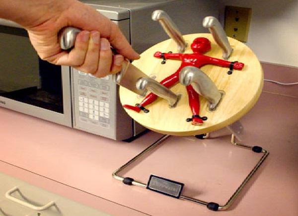 Trusting knife holder-Cool Kitchen Gadgets