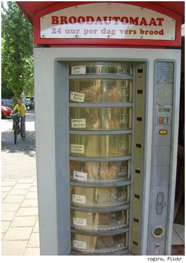 Fresh Bread Vending Machine-Weird Vending Machines