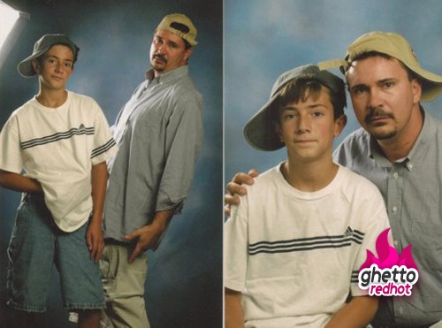Trying to be cool-Embarrassing Dad Pictures