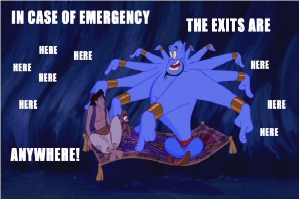Emergency help-12 Funny Quotes Told By Genie From Disney's Aladdin TV Show