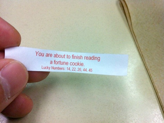 You're About To Finish Reading A Fortune Cookie-Hilarious Fortune Cookies