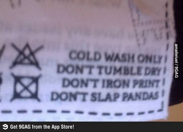 I wouldn't dream of it-12 Hilarious Clothing Tags You'll Ever See