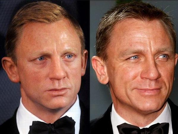 Daniel Craig-Celebs With Their Wax Statues