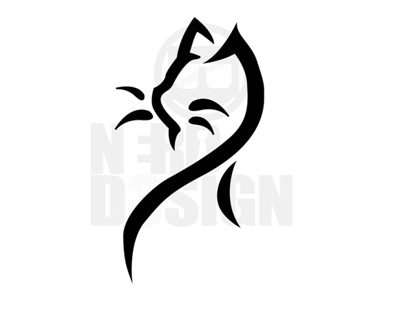 Tribal Cat Tattoo Design-Cat Tattoos Designs