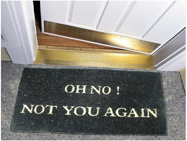 Not You Again-12 Creative And Funny Doormats Ever