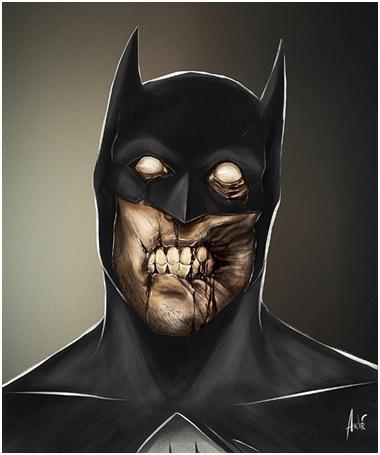 Bat-Zombie-Zombified Faces Of Famous Cartoons