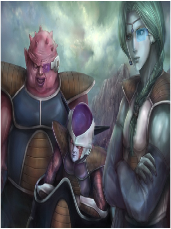 Dodoria, Frieza and Zarborn-Realistic Dragon Ball Z Drawings