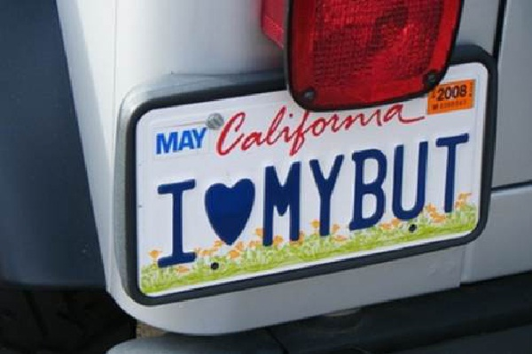 Butt Love-Hilarious License Plate Fails