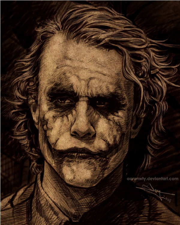 Thoughtful-15 Best Joker Drawings That Give You Nightmares