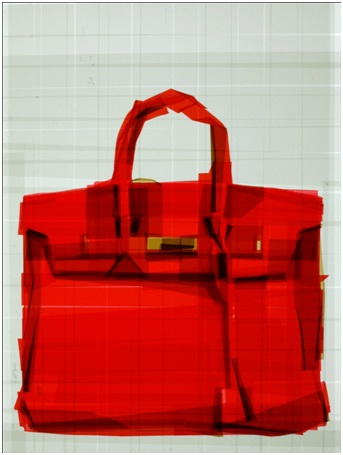 Hermes Handbag-Amazing Packing Tape Art