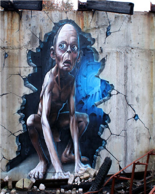 Gollum-Best Wall 3D Graffiti
