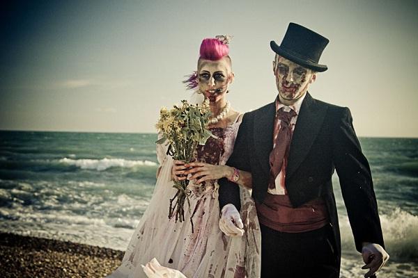Beach wedding-Zombie Engagements