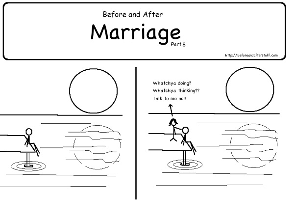 No peace-12 Hilarious Before And After Marriage Pictures