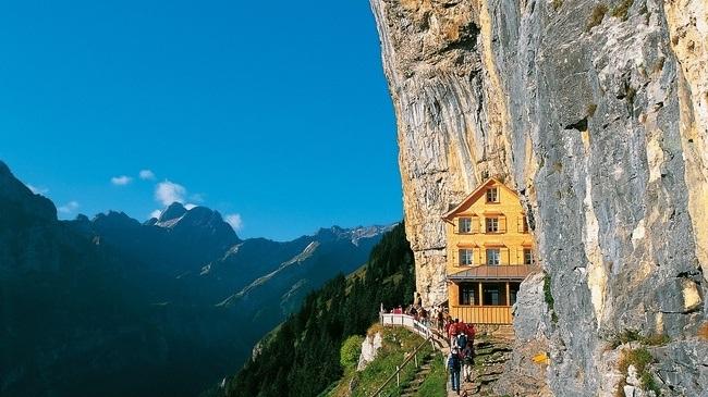 Ascher Cliff, Switzerland-Most Amazing Hotels Around The World