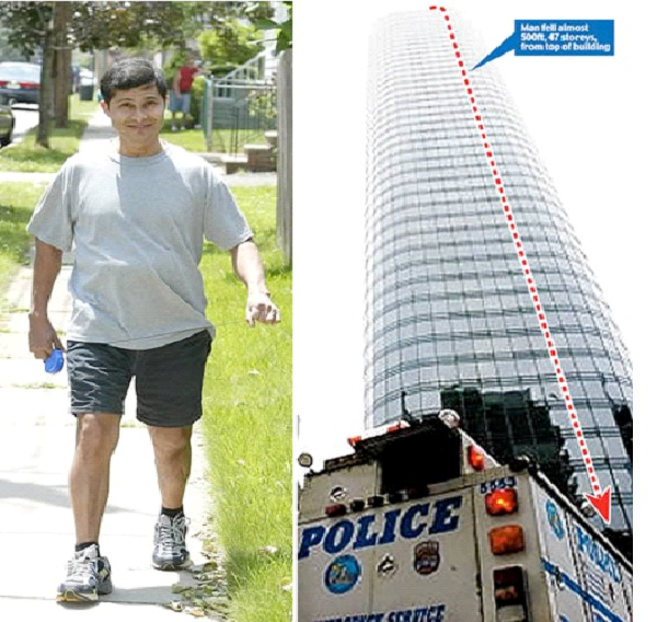 Alcides Moreno - Window Washer Survives 47 Story Fall-Medical Miracles