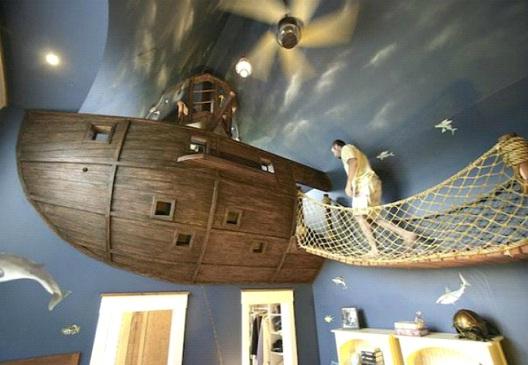 Pirate Ship Room-Awesome Home Interior Designs Ever