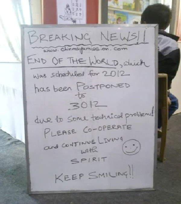 Breaking News-Hilarious End Of The World Signs