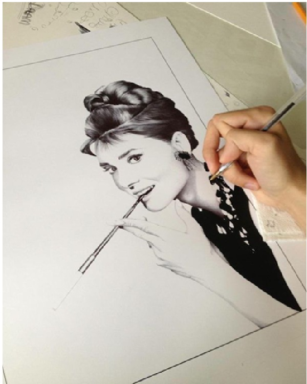 Hepburn-Amazing Pen Drawings