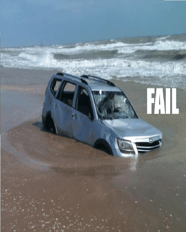 Deep Sea Driving-18 Hilarious Beach Fails That Will Make You Laugh Out Loud