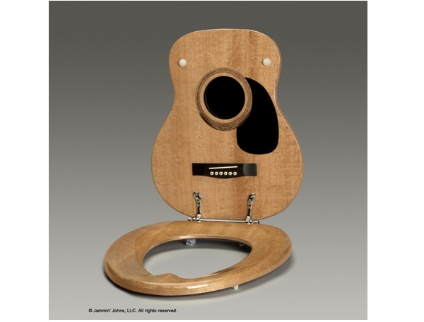 Guitar Toilet Seat-Surprising And Unusual Things Shaped Like A Guitar