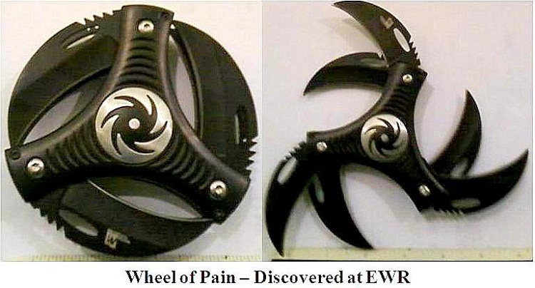 Wheel of Pain-Craziest Things Found By Airport Security