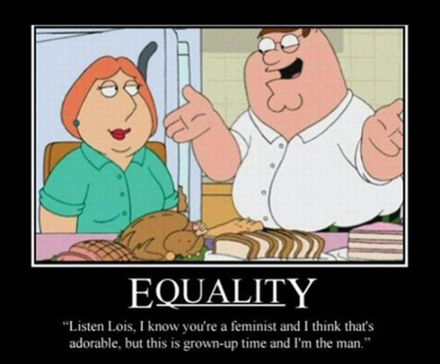 Equality doesn't work-12 Funniest Family Guy Memes