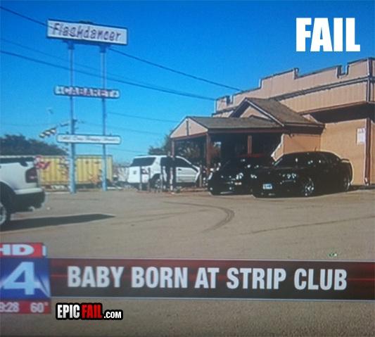 A major fail-Strip Club Fails
