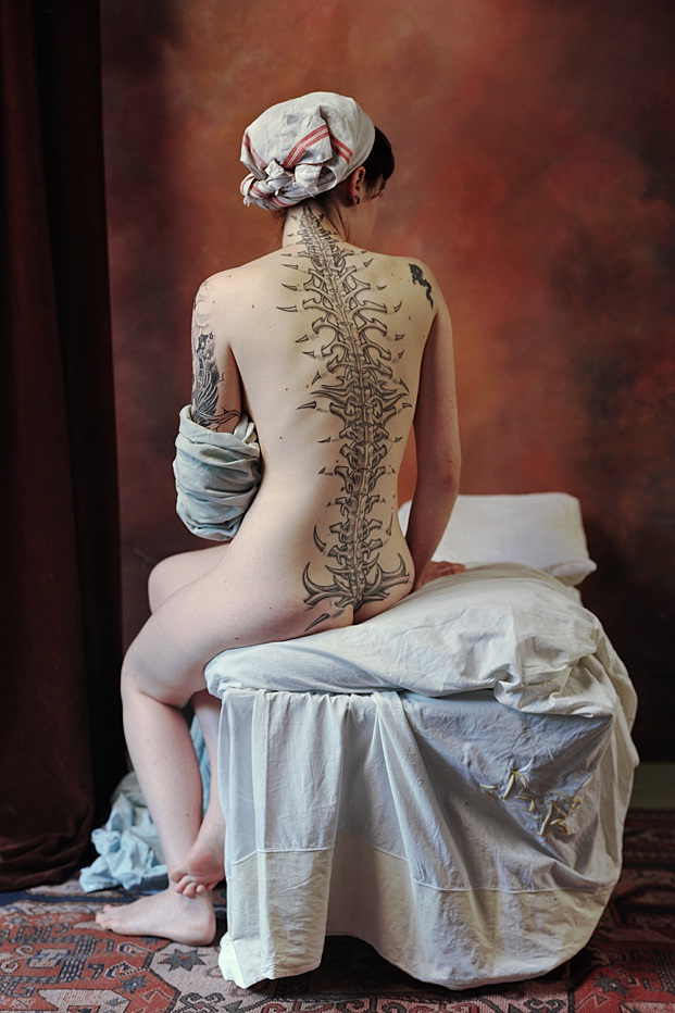 Showing a Bit Of Spine-Wackiest Anatomical Tattoos