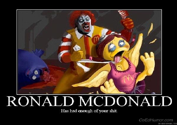 Evil McDonald Man-Most Inappropriate Ronald McDonalds