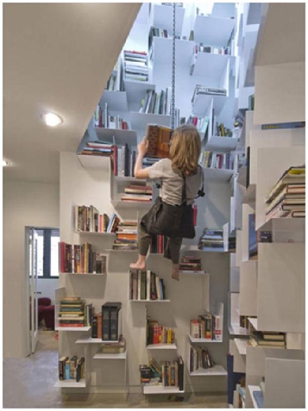 Mountain Bookshelf-Coolest Bookshelves